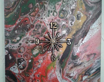 ARCYLIC POUR CLOCK