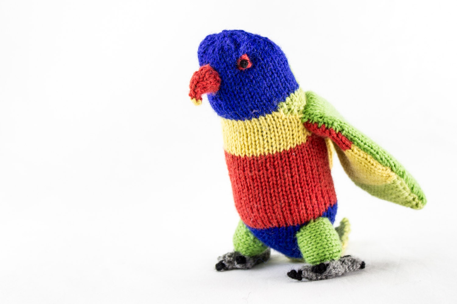 KNITTING PATTERN, PDF, Soft Toy Knitting Pattern, Rainbow Lorikeet ...