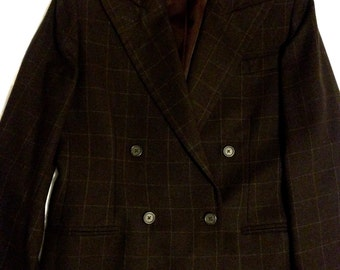Ralph Lauren Brown Plaid Women's Blazer