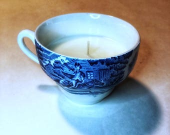 Vintage Made in England Teacup Essential Oil Soy Candle