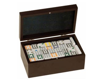Custom engraved dominoes / Dice and Tile Games / 92 Dominos / Double Twelves Dominos Set /  Tile Game