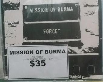 Mission Of Burma forget Red Vinyl LP