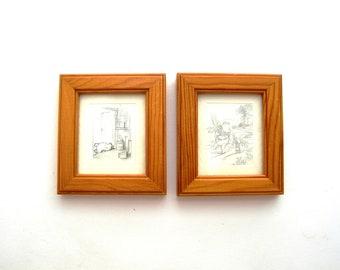 Winnie The Pooh, Disney,  2 miniatures