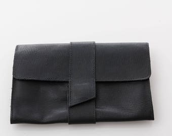 Women's leather wallet, Leather purse, Envelope purse, Women wallet zipper, Leather Clutch Purse, Credit card wallet