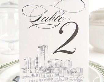 Lexington Skyline Table Numbers (1-10)