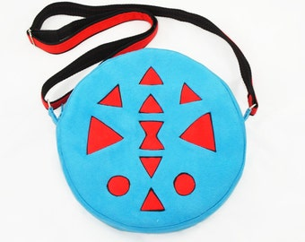 Round bag pattern, circle bag tutorial, crossbody bag, aztec pattern - PDF sewing patterns and tutorials, instant download w-t003
