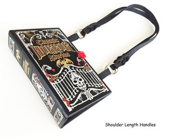 Classic Horror Tales Recycled Book Purse - The Raven Book Cover Handbag - Poe Book Clutch - Macabre Gift - Horror Book Bag