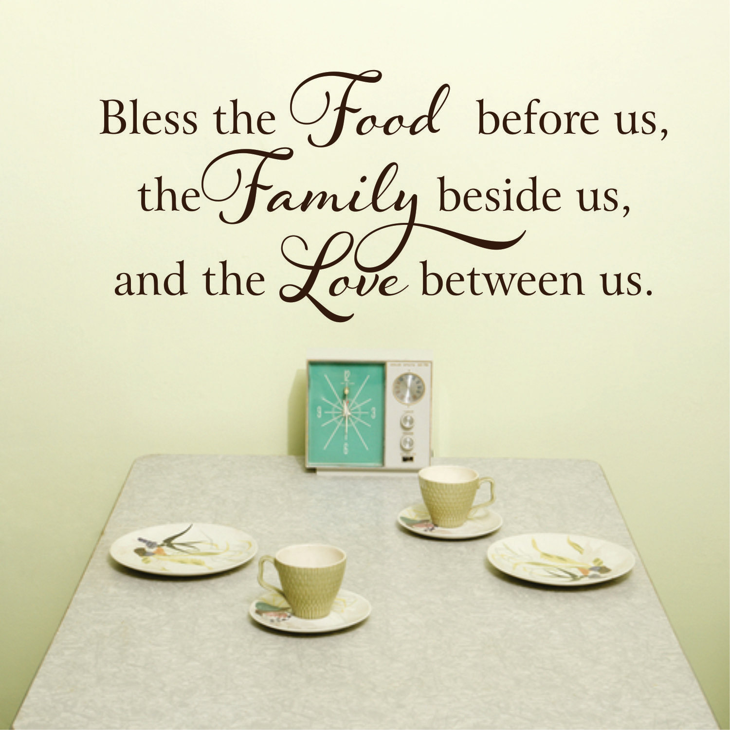 Kitchen Wall Decal Kitchen Decor Kitchen Signs Bless