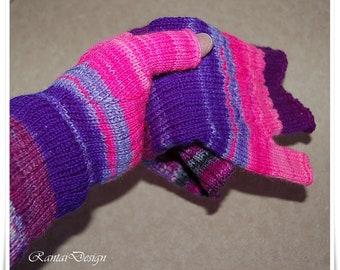 Gloves Hand cuffs female hand cuffs hand gauntlets monster stripes Wrist Warmers