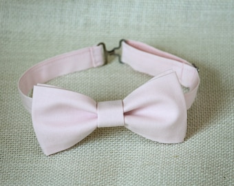 Light pink bow tie, mens bow tie,groomsmen bow tie, pale pink bow tie,pearl pink bow tie, wedding bow tie,ringboy bow tie,ring bearer bowtie