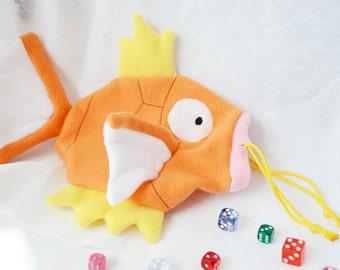Pokemon Magikarp Dice Bag Plush Shiny Drawstring Pouch