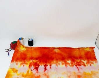 Upcycled knit cotton pad panel hand dyed