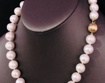 FreshWater Pearls Humongous 12.5-11.5 mm 18In Necklace 14Kt Solid Gold Clasp F10