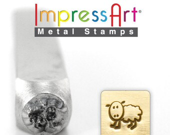"SHEEP Metal STAMP 6mm 1/4"" Steel Punch FARM Animal ImpressArt Custom Stamping Jewellery Tool Craft Personalized Jewelry Making Tool"
