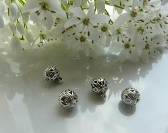 Silver ball bead pendant charm