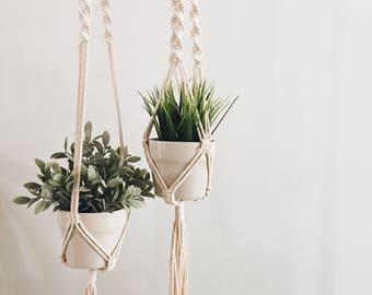 Macrame Plant Hanger, Hanging Planter 3