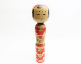 Kokeshi doll Vintage.Zaou Traditional.by Takeo Saito.Japanese Folk Art.217mm.#dk30.msjapan