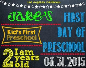 First Day of School Chalkboard Sign (Digital Print)