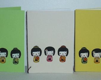 Set of five Japanese pattern