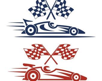 Race car Racing Sports Cuttable Design PNG DXF SVG & eps File Silhouette Designs Cameo