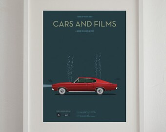 Big Fish car movie poster, art print A3 Cars And Films, home decor prints, illustration print