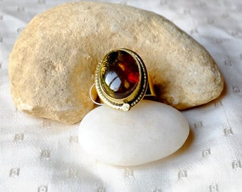 Amber ring from Mexico - Chispitas