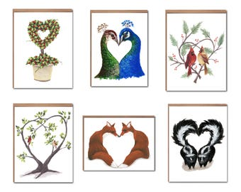Assorted Love Notecards Boxed Set - Valentines Cards - Love Cards - Love Stationery