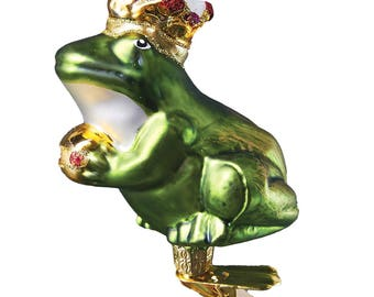 Frog Prince with Clip Christmas Ornament
