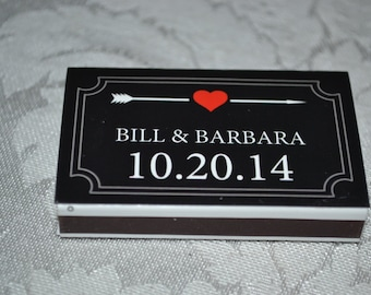 125 Custom Matchbox Wedding Favors Matchboxes - Lovestruck