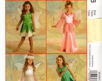 McCall's UNCUT Costume Pattern M5496 - Children's Fairy Costumes - 2-5