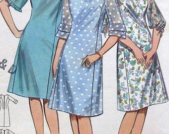 Vintage Dress Sewing Pattern Butterick 3462 Size14