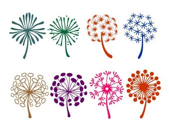 Dandelion Weed Cuttable Design SVG PNG DXF & eps Designs Cameo File Silhouette