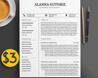 professional 2 page resume template cv 2 cover letters a4 us letter - Executive Resume Design
