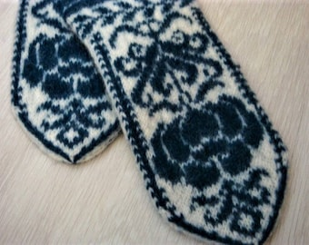 mittens, mittens with a pattern / jacquard / mittens female