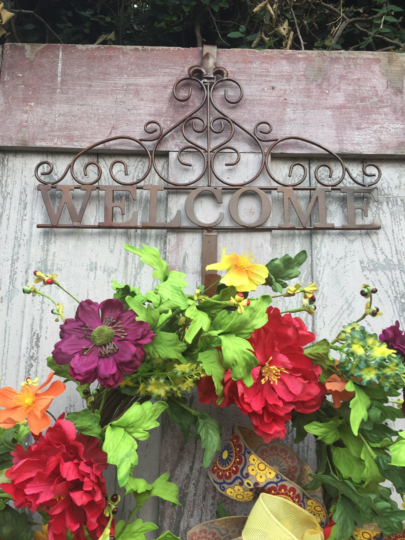 + $13.00 shipping & Welcome Wreath Hanger Wreath Holder Wreath Hook Hanger for ...