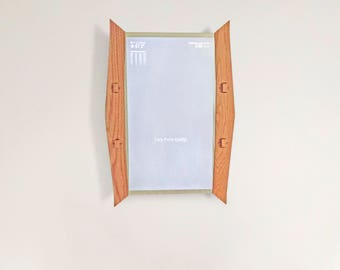 """Smart Mirror with 32"""" Open Joinery Frame, Large Hanging Mirror Wall Decor, Wooden Mirror with Flatscreen Monitor, Wall Mirror for Home"""