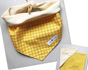 Yellow Checkers Reversible Bandanas