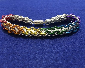 Super Gay Chainmaille Bracelet