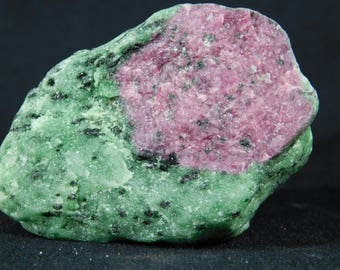 A BIG! 100% Natural Red RUBY Crystal In A Light Green Zoisite! Tanzania 450gr