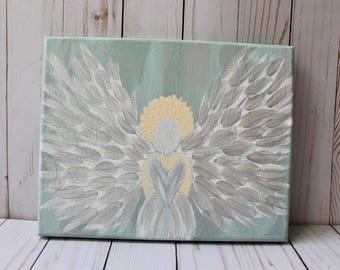 Christmas Angel Acrylic Painting
