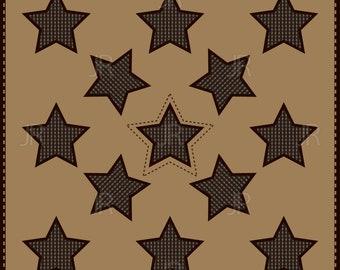 Digital ornament stars