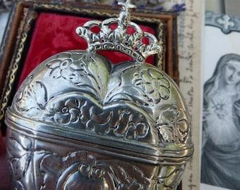 Antique Scandanavian European Crowned Heart,  A Georgian Love Token, offered  by RusticGypsyCreations