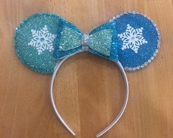 frozen themed minnie ears