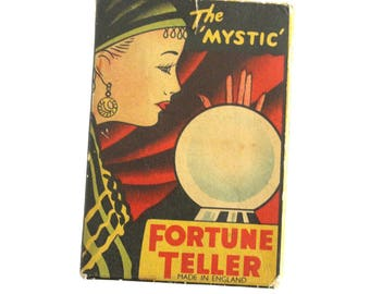 The 'Mystic' Fortune Teller Card Game. 1950s Fortune Teller Cards. Clifford Toys. Made In England. Fortune Telling. Fortune Teller.