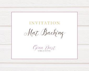 Invitation Mat