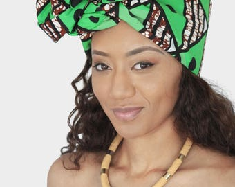 Mena Mode Ankara Fabric Headwrap Gele Headscarf/ Bandeau FREE Shipping