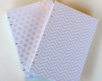 White Embossed Journals