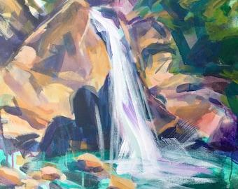 Waterfall Santa Monica Mountains