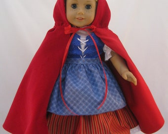 American Girl Sized Little Red Riding Hood Costume