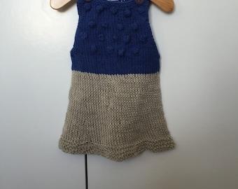 Popcorn dress (6-9 months)